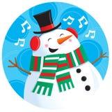Τραγουδώντας χιονάνθρωπος Στοκ Φωτογραφία