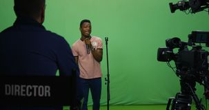 Τραγούδι ατόμων σε μια ακρόαση απόθεμα βίντεο