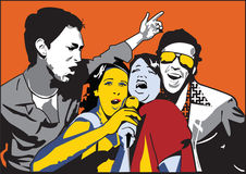 τραγούδι ζευγών Στοκ φωτογραφίες με δικαίωμα ελεύθερης χρήσης