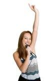 τραγούδι κοριτσιών εφηβικό Στοκ εικόνες με δικαίωμα ελεύθερης χρήσης