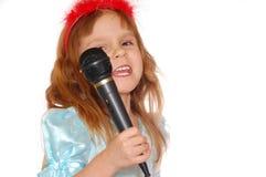 τραγούδι κοριτσιών Στοκ Φωτογραφία