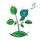 τραγούδι πουλιών διανυσματική απεικόνιση