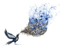 τραγούδι πουλιών s απεικόνιση αποθεμάτων