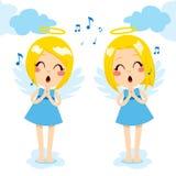Τραγούδι αγγέλων ευτυχές Στοκ Εικόνες