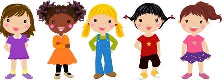 τραγούδι πέντε κοριτσιών Στοκ Εικόνες