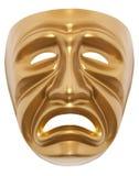 Τραγωδίας μάσκα που απομονώνεται θεατρική Στοκ εικόνες με δικαίωμα ελεύθερης χρήσης