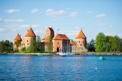 Τρακάι Castle - κάστρο νησιών Στοκ Εικόνα