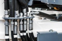 Τρακτέρ υδραυλικής ή άλλος εξοπλισμός κατασκευής στοκ εικόνες με δικαίωμα ελεύθερης χρήσης