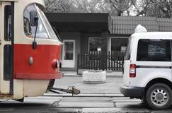 τραμ αυτοκινήτων Στοκ Φωτογραφία