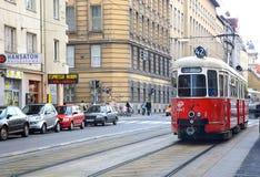 τραμ Βιέννη πόλεων στοκ εικόνα