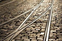 τραμ διαδρομής συνδέσεω&n Στοκ Εικόνες
