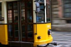τραμ κίτρινο Στοκ εικόνα με δικαίωμα ελεύθερης χρήσης