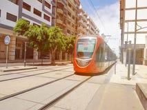 Τραμ Καζαμπλάνκα, Μαρόκο πόλεων Στοκ φωτογραφίες με δικαίωμα ελεύθερης χρήσης