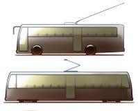 Τραμ και Trolleybus σώματος αυτοκινήτων Στοκ εικόνα με δικαίωμα ελεύθερης χρήσης