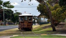 Τραμ καλωδίων του Πόρτλαντ στο το Πόρτλαντ έδαφος στοκ φωτογραφία με δικαίωμα ελεύθερης χρήσης