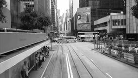 Τραμ μέσω των οδών του Χονγκ Κονγκ απόθεμα βίντεο