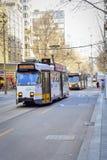 Τραμ πόλεων της Μελβούρνης στοκ εικόνες με δικαίωμα ελεύθερης χρήσης
