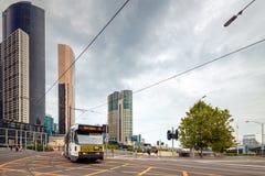 Τραμ πόλεων της Μελβούρνης Στοκ φωτογραφίες με δικαίωμα ελεύθερης χρήσης