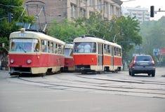 Τραμ σε Kyiv, Ουκρανία Στοκ Φωτογραφίες