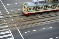 Τραμ στην κίνηση Στοκ Φωτογραφία