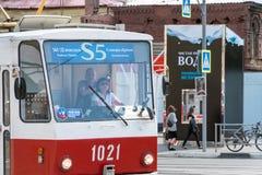 Τραμ στην οδό Στοκ φωτογραφία με δικαίωμα ελεύθερης χρήσης