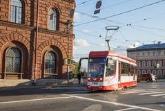 Τραμ στη Αγία Πετρούπολη στοκ φωτογραφία