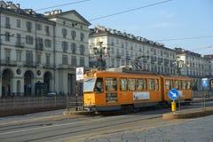 Τραμ στο Τορίνο, Ιταλία Στοκ εικόνες με δικαίωμα ελεύθερης χρήσης