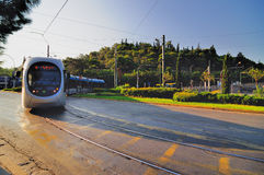 τραμ της Αθήνας Στοκ φωτογραφία με δικαίωμα ελεύθερης χρήσης