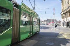 τραμ της Βασιλείας Ελβ&epsi Στοκ εικόνα με δικαίωμα ελεύθερης χρήσης