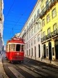 τραμ της Λισσαβώνας κίτρι&nu Στοκ Εικόνες