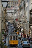 τραμ της Λισσαβώνας λεω&ph Στοκ Εικόνες
