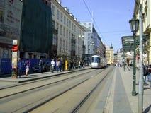 τραμ της Πράγας στοκ φωτογραφία