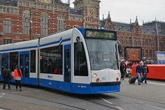 Τραμ του Άμστερνταμ στοκ φωτογραφία