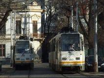 Τραμ του Βουκουρεστι'ου Στοκ Εικόνα