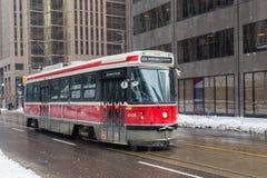 Τραμ του Τορόντου το χειμώνα στοκ εικόνα με δικαίωμα ελεύθερης χρήσης