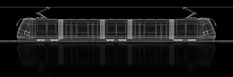 Τραμ - τρισδιάστατη κατασκευή Στοκ Εικόνα