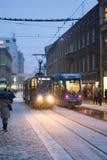 τραμ χιονιού Στοκ φωτογραφίες με δικαίωμα ελεύθερης χρήσης