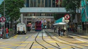 Τραμ Timelapse Χονγκ Κονγκ απόθεμα βίντεο