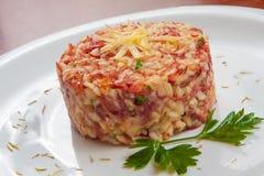 Τρανταγμένο risotto βόειου κρέατος στοκ εικόνες με δικαίωμα ελεύθερης χρήσης
