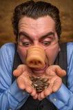 Τραπεζίτης ατόμων χοίρων Στοκ φωτογραφία με δικαίωμα ελεύθερης χρήσης