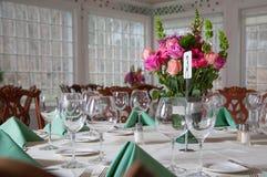 Τραπεζαρία δεξίωσης γάμου Στοκ εικόνα με δικαίωμα ελεύθερης χρήσης
