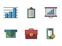 Τραπεζικά εικονίδια Στοκ φωτογραφία με δικαίωμα ελεύθερης χρήσης