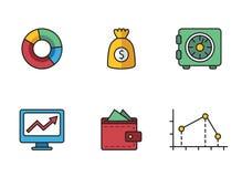 Τραπεζικά εικονίδια Στοκ φωτογραφίες με δικαίωμα ελεύθερης χρήσης