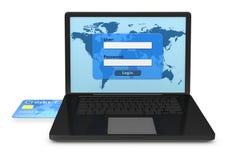τραπεζικά υπηρεσία online Στοκ φωτογραφίες με δικαίωμα ελεύθερης χρήσης