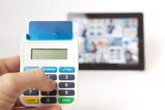 τραπεζικές εργασίες Διαδίκτυο ασφαλές Στοκ Φωτογραφίες