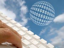 τραπεζικές εργασίες Διαδίκτυο Στοκ φωτογραφίες με δικαίωμα ελεύθερης χρήσης
