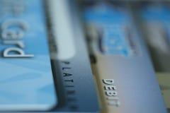τραπεζικές κάρτες Στοκ Φωτογραφίες