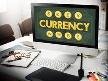 Τραπεζική έννοια εικονιδίων οικονομίας λογιστικής νομίσματος Στοκ Εικόνα