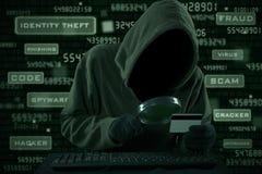 Τραπεζική κλοπή Διαδικτύου στοκ εικόνα