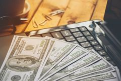 Τραπεζογραμμάτια αμερικανικών δολαρίων Στοκ Εικόνες